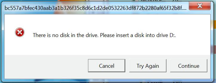 Windows Error Fake Popup
